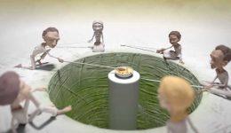 Една анимация, създадена по древната история за глада и споделянето